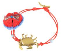 Crab Charm Armband