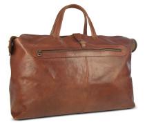 Reisetasche aus italienischem Leder in braun