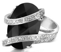 Ring aus 18k Gold mit Edelstein und Diamanten