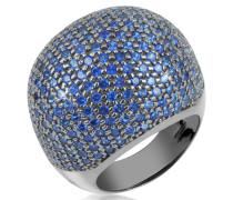 Fashion Ring mit blauen Zirkonen