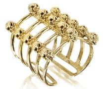Cage and Skulls Ring aus Bronze