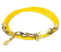 Mari Friendship - Doppeltes Armband aus Leder und Silber