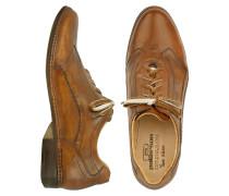 Handgefertigte Schnürschuhe aus italienischem Leder in braun
