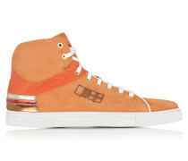 D Plus B Sneaker aus Wildleder in orange