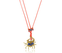 Crab Charm Thread Halskette
