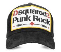 Punk Rock Kappe aus schwarzer Baumwolle
