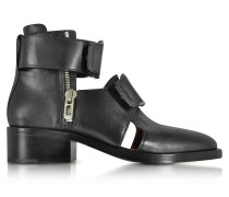Black Leather Addis Cut Out Boot