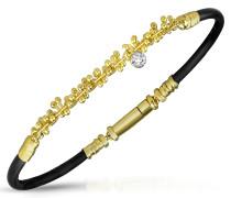 Armband aus 18k Gold und Kautschuk mit Diamant