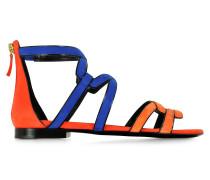 Kaliste Gladiator Sandale aus multicolor Wildleder