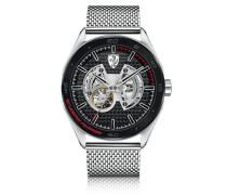 Gran Premio Silver Tone Stainless Steel Men's Bracelet Watch