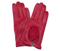 Dents Damenhandschuhe aus feinem Cabrettaleder in rot