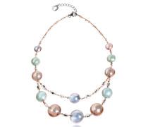 Redentore 3 - Choker Halskette aus Muranoglas in pink & grün mit silber