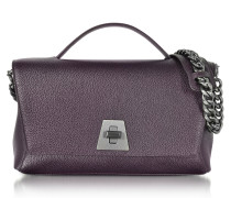 Blackberry Cervocalf Anouk Day Bag w/Detachable Chain