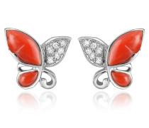 Schmetterling - Ohrringe aus 18k Gold mit Diamanten