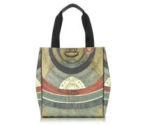 Planetarium Shopper aus Leder und Canvas