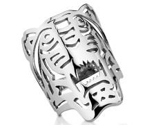 Ring aus Sterlingsilber mit Tiger