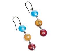 Redentore 1 - Multicolor Ohrringe aus Muranoglas & Silberblatt