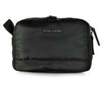 Große Mallorca Kosmetiktasche aus Nylon in schwarz