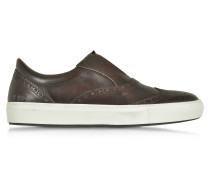 Urban Dark Brown Leather Men's Sneaker