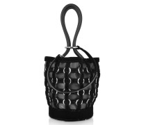Roxy Mini Black Bucket w/Metal Rings Cage