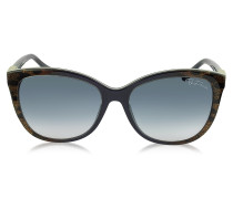 Jabbah 872S Sonnenbrille mit Leopardenmuster in Cat Eye Form