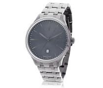 Attrazione Herren-Armbanduhr aus silberfarbenem Edelstahl