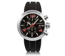 Change Stainless Steel Round Case Men's Chronograph w/ Silicone & Leather Straps