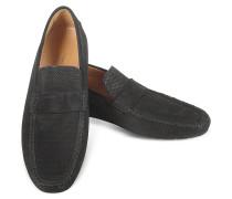 Portofino - Mokassin Schuhe aus Wildleder in schwarz