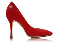 Bacall Red Suede Pump