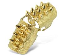 Ring aus Bronze mit goldenen Nieten