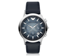 Chronograph Leather Band Men's Watch