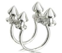 Silberner Ring mit vier Nieten