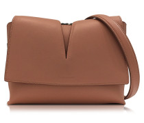 View Open Pink Soft Leather Small Shoulder Bag