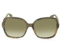 LORI/S 6UJDB Damen Sonnenbrille oversized mit Pythonprint