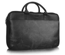 1a Prima Classe - Laptop Aktentasche mit Geomuster in schwarz