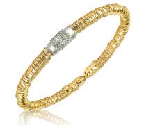 Capriccio - Schlangenarmband aus 18k Gold mit Diamanten