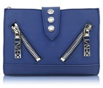 Kalifornia Brieftasche aus gummiertem Leder in dunkelblau