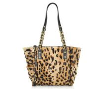 Shopper aus Kalbshaar mit Leopardenmuster