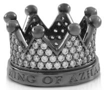 Re Ring aus Silber und Zirkon mit Krone
