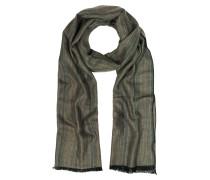 Khaki Stripe langer Schal mit Fransen