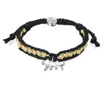 Jaguar Friendship - Armband aus Seide mit Anhänger
