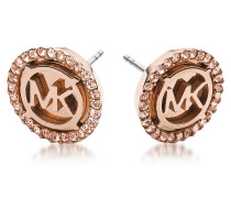 Heritage PVD Ohrringe aus Edelstahl in rosegold mit Kristallen