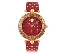 Red Vanitas with Diamonds Women's Watch