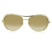 SULAPHAT 975S Pilotenstyle Sonnenbrille aus goldfarbenem Metall