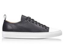 Sorrento Low Top Sneaker aus Leder in schwarz