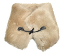 Faux-Fur Toggle Halsschmuck mit Leder