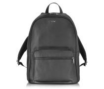 Rucksack aus schwarzem Leder