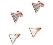 Triangle Ohrringe mit Logo in rosegoldfarben