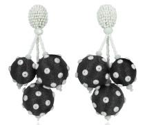 Polka Dot Sequin Triple Ball Clip-On Earrings
