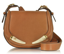 Horn Smooth Cuoio Leather Shoulder Bag